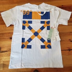 "Off-white Yellow/Blue ""Milan"" Pattern Tee Shirt"
